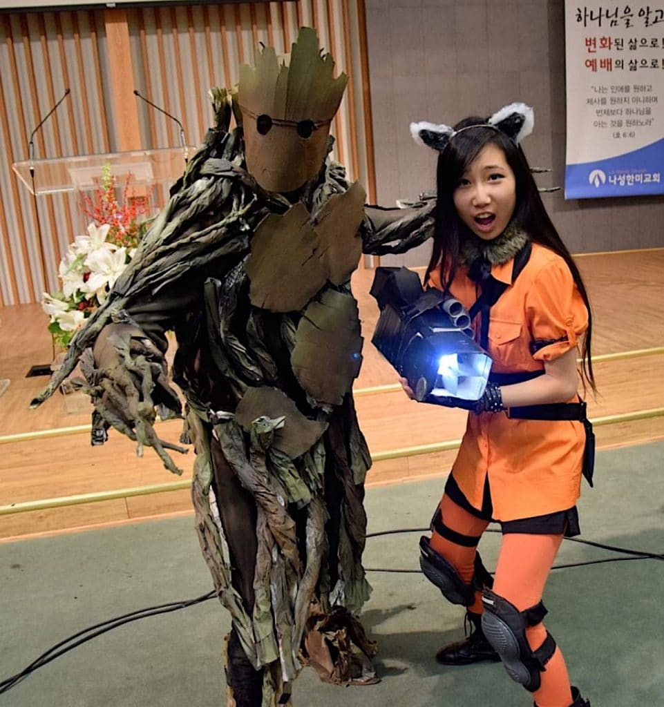 Rocket and Groot Guardians of the Galaxy Halloween couples costumes