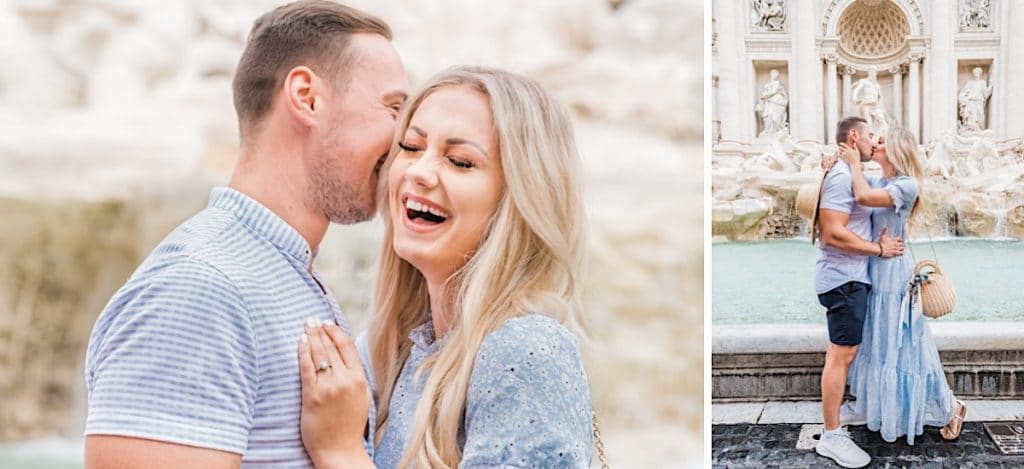 Italy engagement session at Trevi Fountain