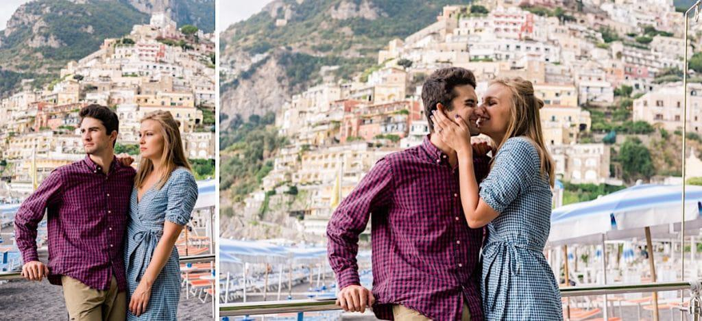 Amalfi Coast Italy engagement photos