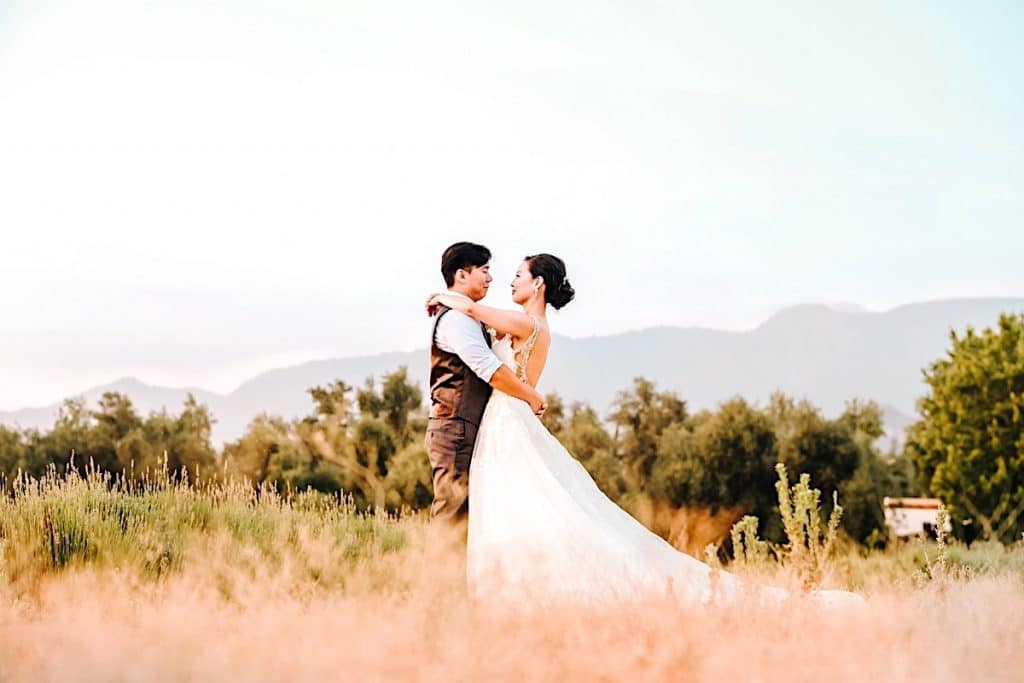 Intimate Palm Springs ranch wedding